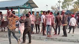 khukuri fight in holi damak bus station