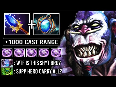 CRAZY 1000 CAST RANGE Curse Ward Scepter Doctor Burn To Death Support To Carry Most Imba Hero Dota 2