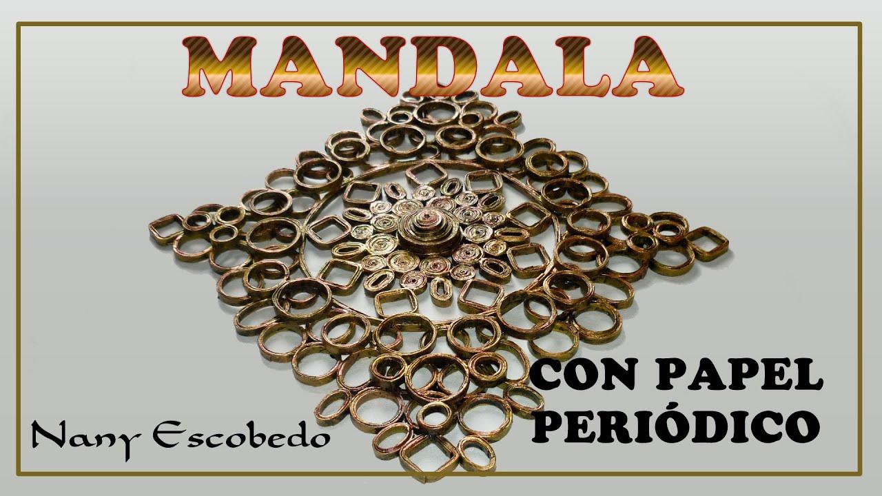 MANDALA CON PAPEL PERIODICO With Newspaper