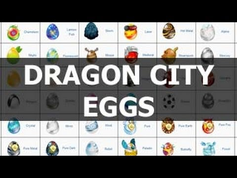 Dragon City Eggs Guide With Pictures Youtube