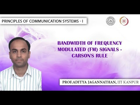 Bandwidth of Frequency Modulated (FM) Signals - Carson's Rule