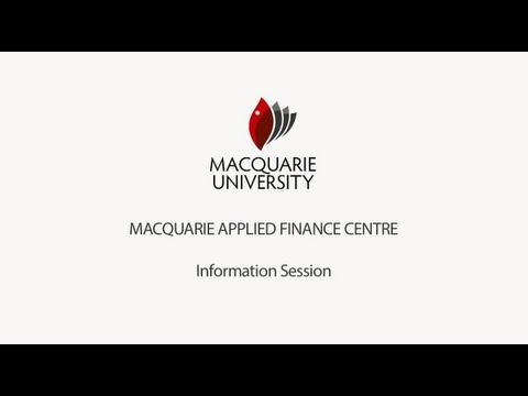 Macquarie Applied Finance Centre Information Session