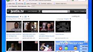 How to Install WM Recorder 14 and Download/Capture/Save/Rip/Record Streaming Video on Justin.TV