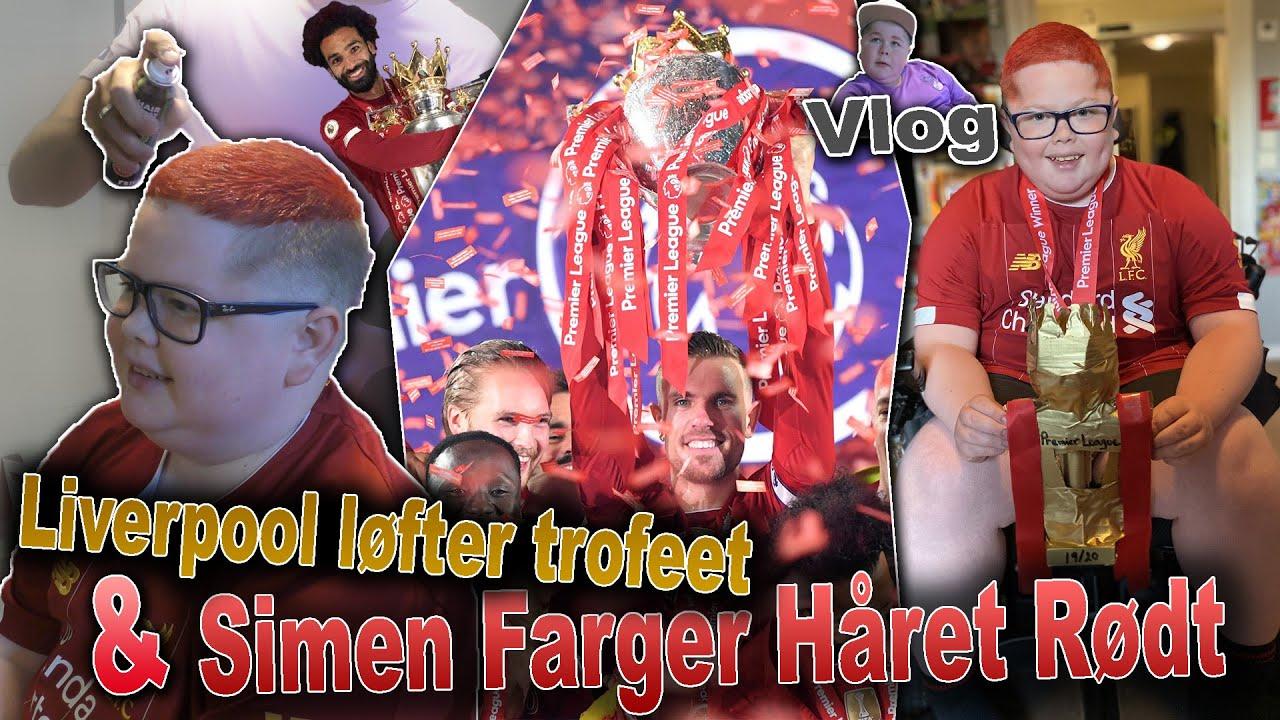 Simen Farger Håret Rødt og Liverpool Løfter PL Pokalen!?