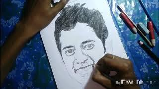 How to draw mushfiqur rahim sketch/Md Nazmul Haque Babu Arts/mushfiqur rahim
