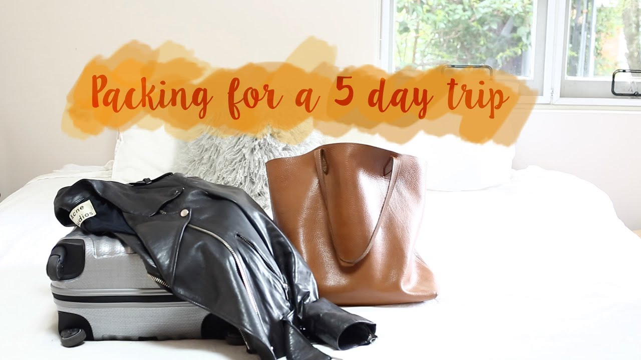 packing for a five day getaway short trip mademoiselle youtube