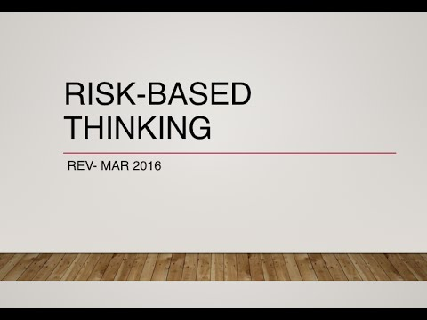 Risk Based Thinking ISO 9001:2015 QMS Requirements