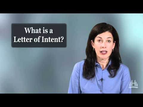 Business Law: What is a Letter of Intent?