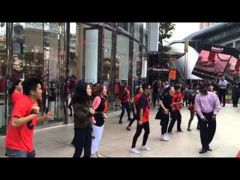 Nescafe #firsttimeever flashmob at Lot10 KL 29th January 15