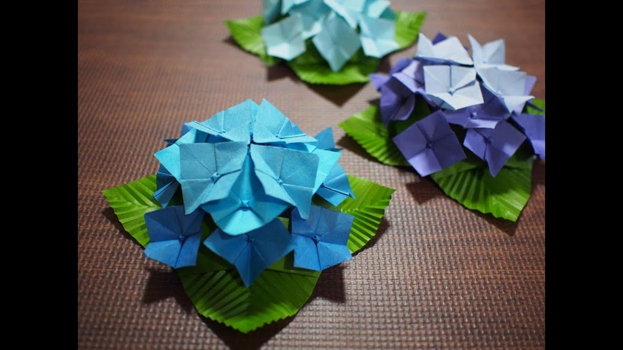 あじさい 折り紙 立体 作り方