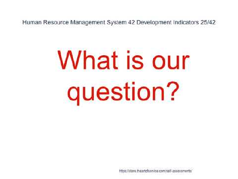 Human Resource Management System 42 Development Indicators