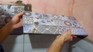 видео Укладка плитки в углах. Как класть плитку в углах