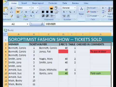 excel 2007 sorting filtering data using ticket sales youtube