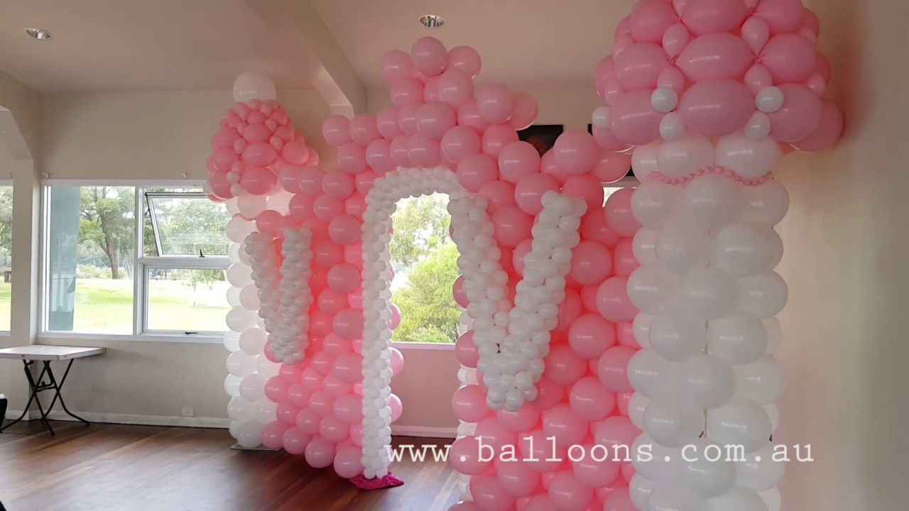 Pink castle - Balloons Online Decor Video Tour - YouTube
