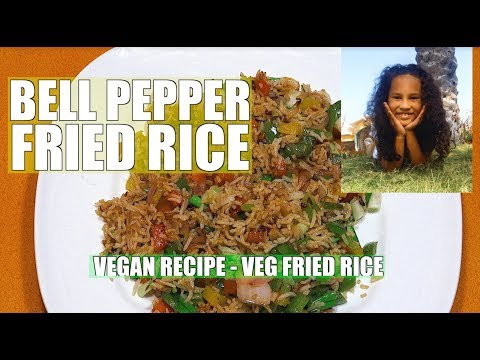 Bell Pepper Fried Rice - Easy Veg Fried Rice - Vegan Recipes - Garlic Fried Rice