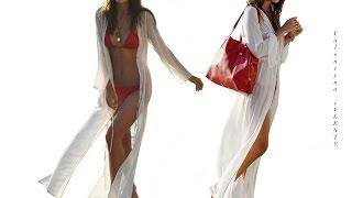 Пляжное платье - накидка на купальник ❣ (Примерка в конце видео)