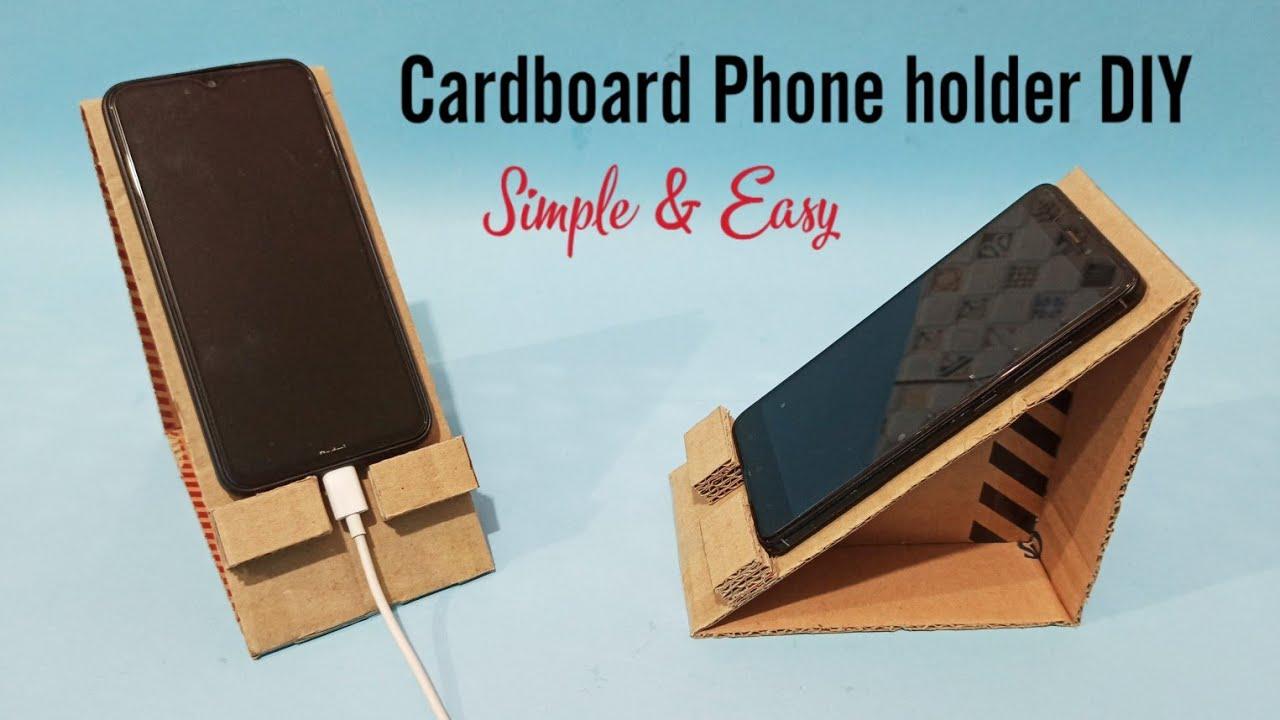 Cardboard Phone holder DIY   Tempat HP dari kardus