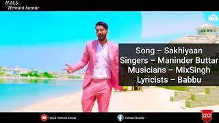 Sakhiyan panjabi song lyrics tere yaar bathere ne full song maninder butter H.m.s hemant kumar