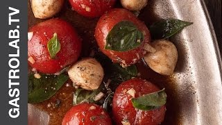 Pickled Cherry Tomatoes And Mozzarella Balls Salad || Gastrolab Quick & Easy Recipe