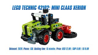LEGO Technic 42102: Mini CLAAS XERION: Speed Build & Review [4K]