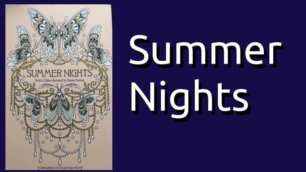 Coloring Book Flip Through: Summer Nights Artist Edition by Hanna Karlzon