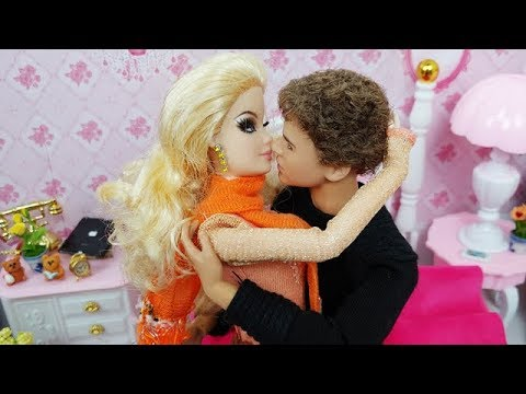 💗BARBIE KEN BEDROOM MORNING ROUTINE💗DRESS UP DOLL HOUSE💗 Poupée Barbie Ken routine du matin💗