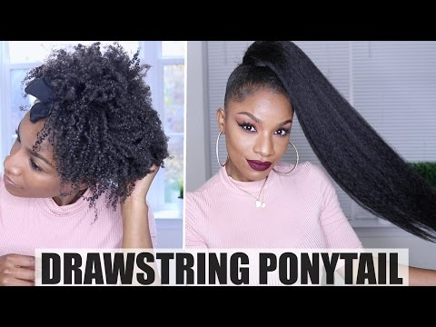 How to Drawstring Ponytail on Natural Hair