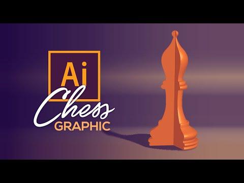 Graphic Design | Chess Piece | Adobe Illustrator Tutorial thumbnail
