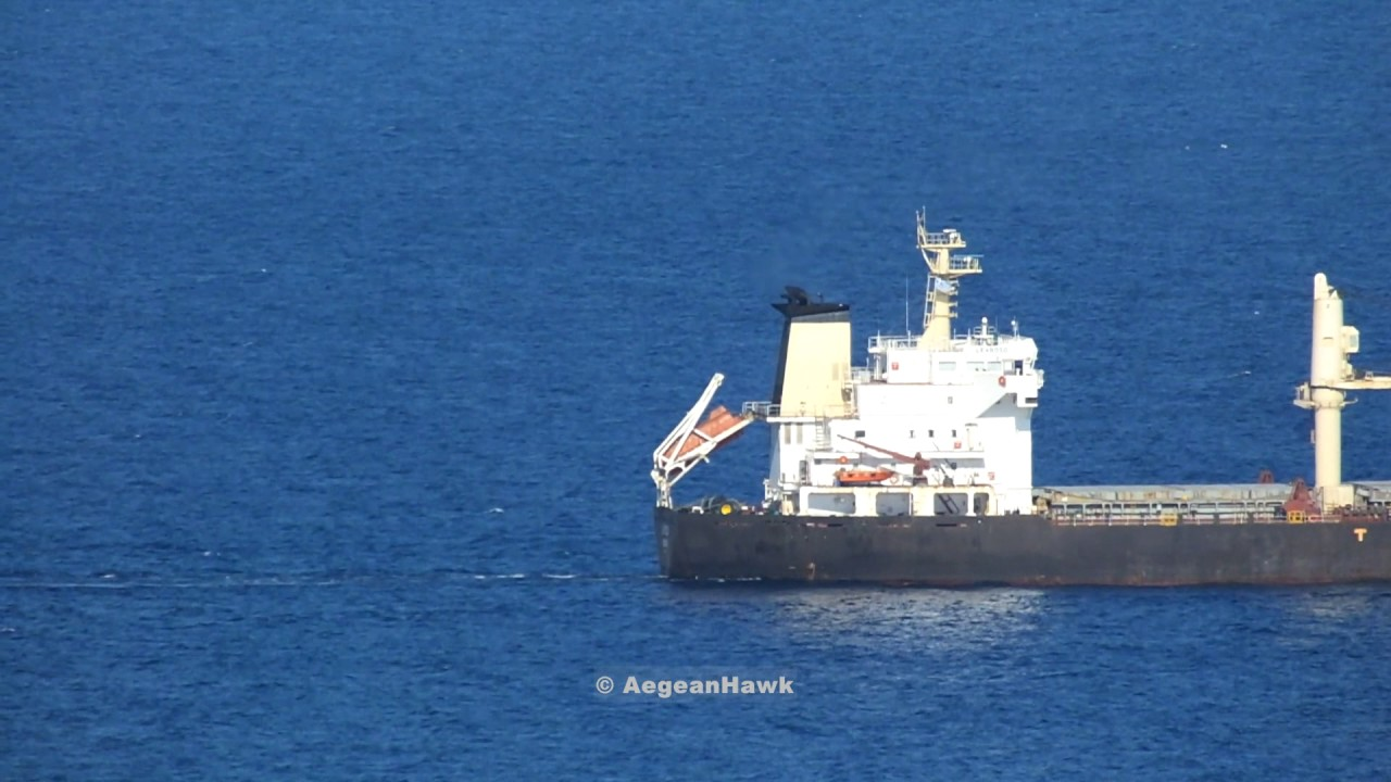 Bulk carrier Levroso from Russia to Persian Gulf probably, passing Chios  Strait in Aegean Sea