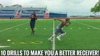 10 RECEIVER DRILLS THAT WILL TAKE YOUR GAME TO THE NEXT LEVEL!