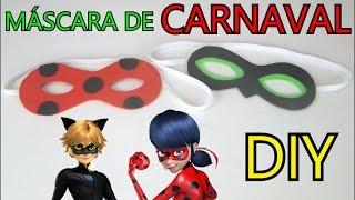 Video Como fazer Máscara da Ladybug e do Cat Noir Miraculous Para Carnaval DIY download MP3, 3GP, MP4, WEBM, AVI, FLV Juli 2018