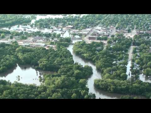Manchester Iowa Flood July 24 2010  Aerial Footage