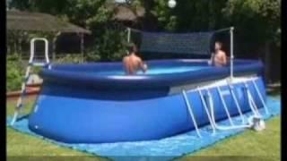 Intex Oval Ellipse Frame Pool Setup Instructions