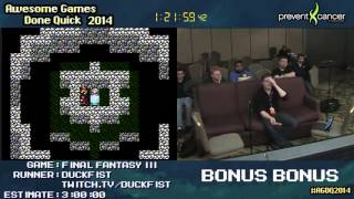 AGDQ 2014 Bonus Stream - Game 27 - Final Fantasy 3