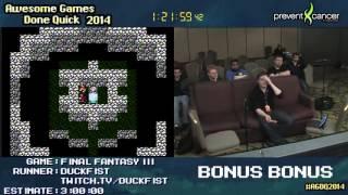 AGDQ 2014 Bonus Stream - Game 27 - Final Fantasy 3