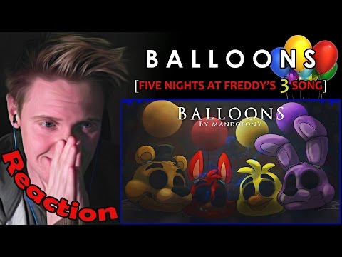 """""""Balloons"""" - Five Nights at Freddy's 3 Song by MandoPony REACTION 