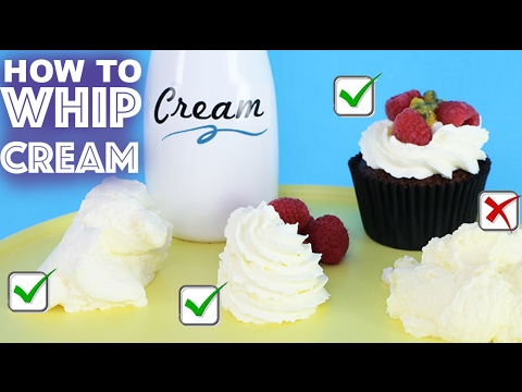 HOW TO WHIP CREAM   Have YOU Been Doing It Wrong?   My Cupcake Addiction