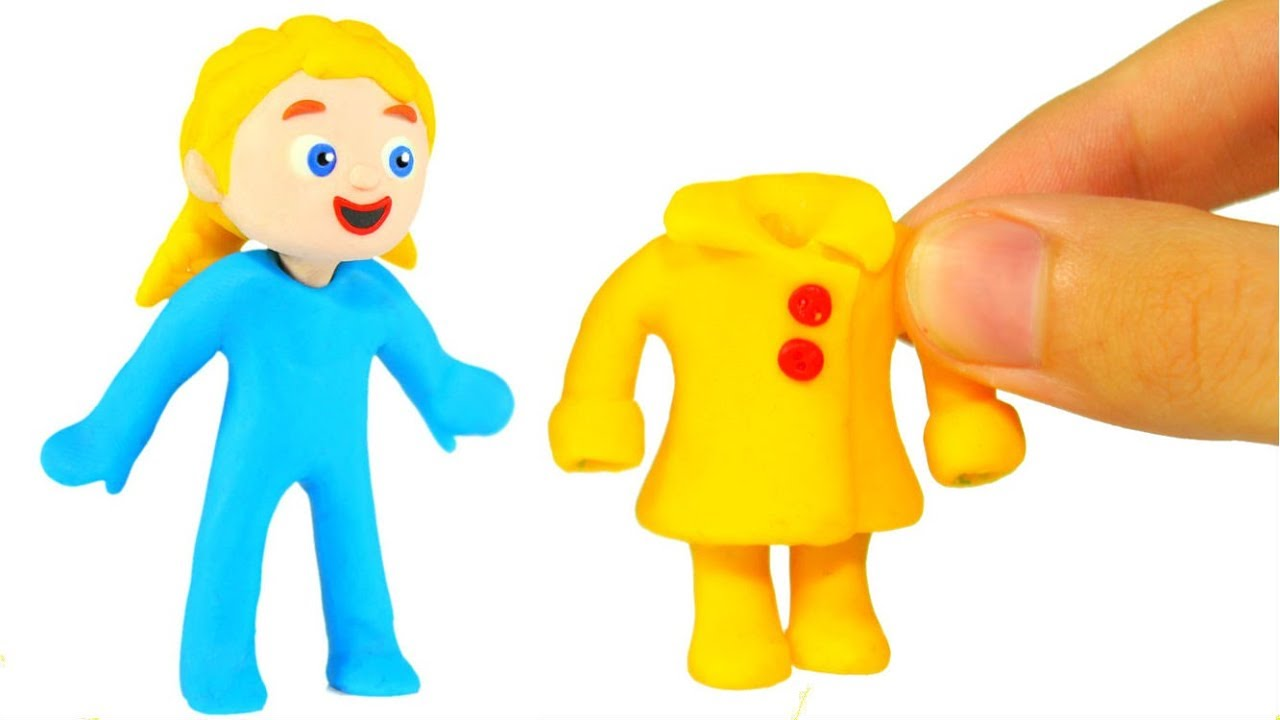 FUNNY KIDS WEAR RAIN CLOTHES ❤ Play Doh Cartoons For Kids