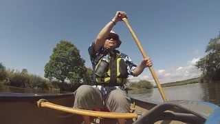 細岡、岩保木水門までのカヌーツーリング 自転車と電車とカヌーを使って...