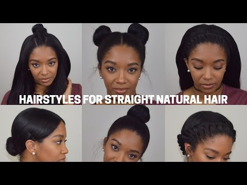 Hairstyles for Straight Natural Hair