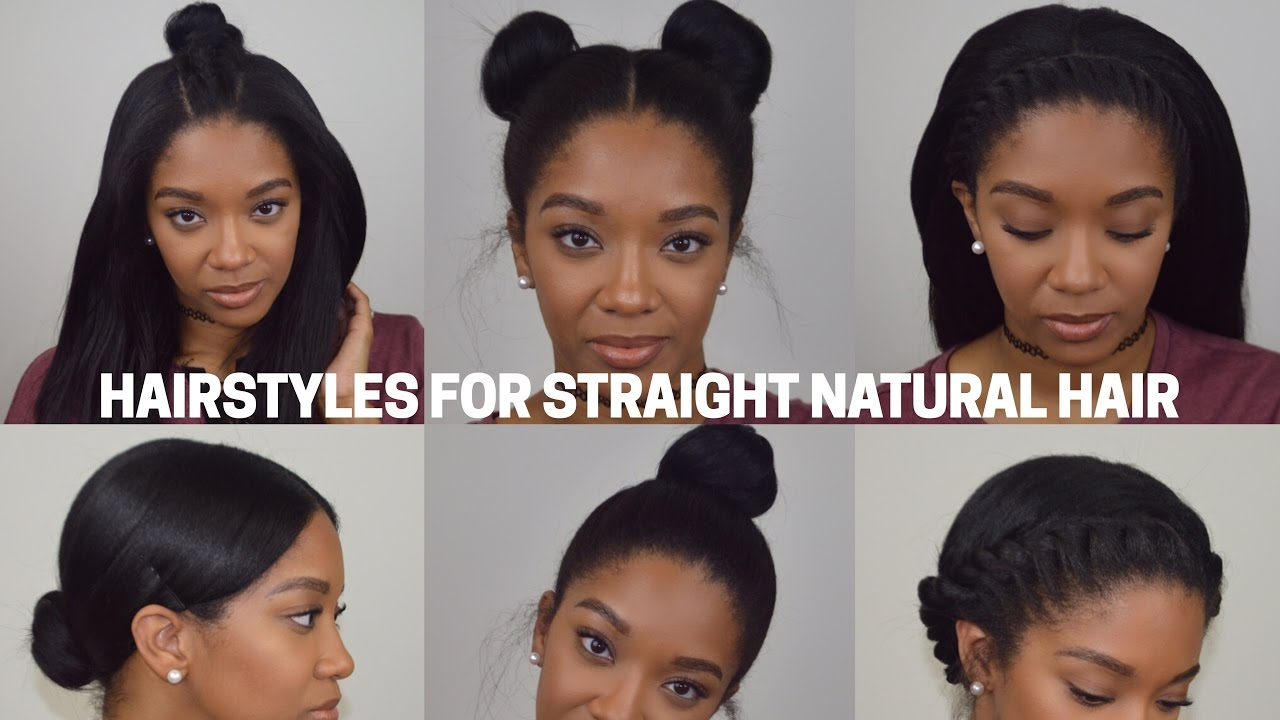 Hairstyles For Straight Natural Hair YouTube