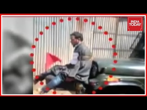 Omar Abdullah Tweets Video Of Man Tied To Army Jeep To Prevent Stone Pelting