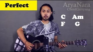 Chord Gampang (Perfect - Ed Sheeran) by Arya Nara (Tutorial Gitar) Untuk Pemula