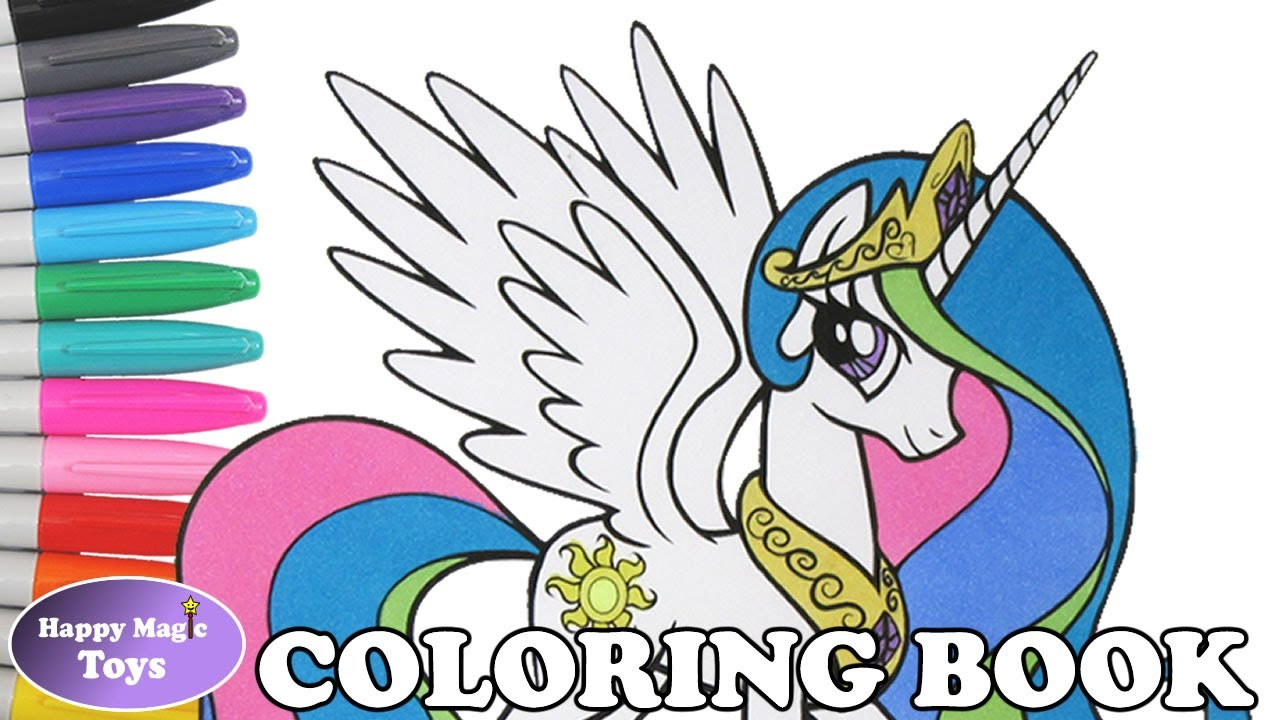 mlp princess celestia coloring book pages my little pony princess