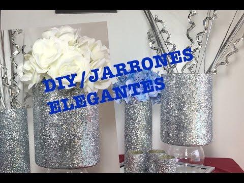 Como hacer jarrones elegantes parte 2 diy floreros for Jarrones de vidrio decorados