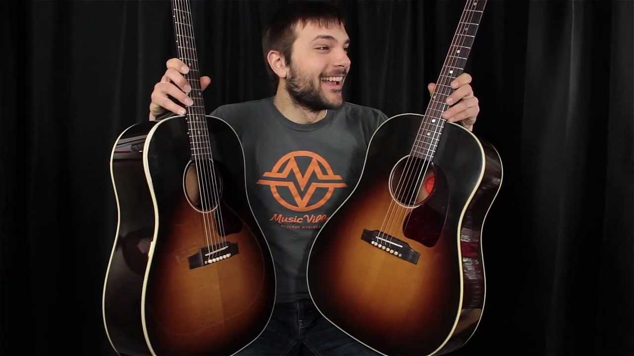 gibson j45 true vintage vs j45 standard comparison which guitar sounds better youtube. Black Bedroom Furniture Sets. Home Design Ideas