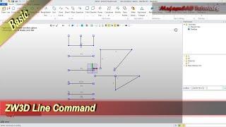 ZW3D Line Command Basic Tutorial
