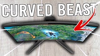 Best 1440p 144hz 1ms Gaming Monitor? AOC CQ32G1 Tested in Fornite & CSGO!