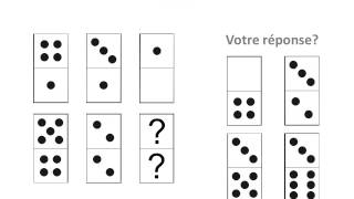 Test psychotechnique: les dominos