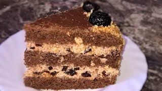 Торт Чернослив в шоколаде. Сметанный крем для торта. Торт шоколадный с черносливом и орехами.